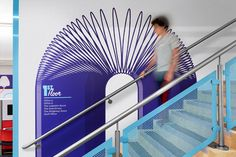 column graphics - not only attracted to this because its a familiar color - movement / play