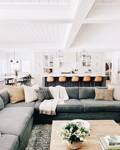 gorgeous home interior. living room home decor ideas. farmhouse home inspiration. - gorgeous home interior. living room home decor ideas. farmhouse home inspiration. Living Room Modern, Home Living Room, Living Room Designs, Living Room Decor, Small Living, Dining Room, Natural Living Rooms, Cozy Living Room Warm, Barn Living