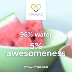 Wer kann einem Stück Wassermelone zur Erfrischung widerstehen? Healthy Quotes, Motivation, Fruit, Food, Watermelon, Essen, Meals, Yemek, Eten