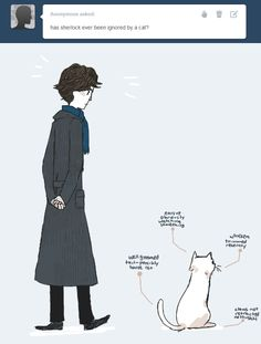 sherlock will also deduce it and then ignore its dumb tail