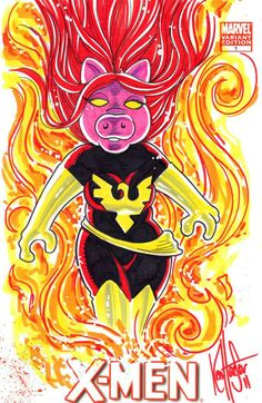 Two of my less favorites combined - Miss Dark Piggy Phoenix! In that Piggy's less favorite and I hate the Phoenix.