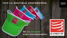 Visières Compressport Noir, Vert, Rouge, Bleu, Blanc, Rose, Équipement de course à pied sur Tripp Sport : Boutique de Triathlon