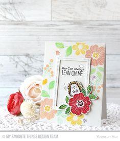 Bold Blooms Stamp Set and Die-namics, Happy Hedgehogs Stamp Set and Die-namics, Single Stitch Line Rectangle STAX Die-namics - Yoonsun Hur  #mftstamps