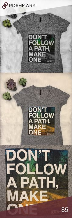 ✨ Graphic Tee Shirt ✨Short sleeve . Motivation . Do you ever feel lost in life? Do you have no clue where you're going or what you want to do? Do you have dreams that you want to make a reality but don't know how? Well then....   DON'T FOLLOW A PATH, MAKE ONE do what they say you can't!   This is THE perfect tee for the days where you just need a little motivation! Wear this and give the people around you some food for thought :) Hybrid Apparel Tops Tees - Short Sleeve