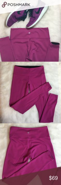 Lululemon Pink Wunder Under Reversible Pants Ring in 2017 and all your fitness goals with Lululemon! This listing is for a preloved, preowned and gently worn LULULEMON WUNDER UNDER PANTS! This pair is pink on one side and reverses to solid black on the other side. Essentially, you are getting 2 PAIRS of pants!   • PINK PANT REVERSES TO SOLID BLACK  • WAISTBAND POCKET • WIDE SOFT WAISTBAND • FLAT SEAMED FOR CHAFE RESISTANCE AND COMFORT lululemon athletica Pants Leggings