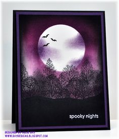 Cards...stamping...anyone for Halloween cards?
