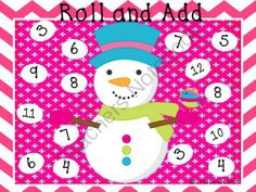 Winter Roll and Add from Pocket Full of Kinders on TeachersNotebook.com (6 pages)
