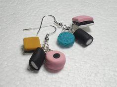 Licorice Allsorts Earrings.