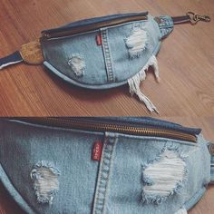 « it s all in the details every fanny is hand made from scratch madeinlosangeles levi fannypack bumbag fanny pack denim Diy Jeans, Jeans Refashion, Levis Jeans, Artisanats Denim, Denim Purse, Mochila Jeans, Jean Diy, Denim Ideas, Denim Crafts