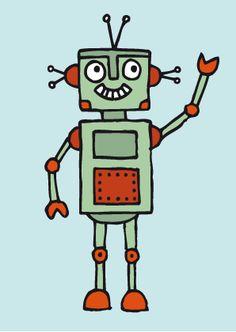 Roboter Illustrationen « Stefanie Krauss – Design und Illustration