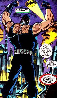 "comicbookvault: "" BATMAN #498 (Aug. 1992) Jim Aparo (pencils) Rick Burchett (inks) & Adrienne Roy (colors) Words by Doug Moench "" DC Comics - Bane"