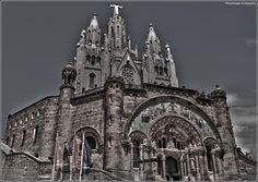 Catholic church, the Temple de Sagrat Cor over Tibidabo Mountain