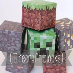 Free download Minecraft blocks printable Creeper Iron ore
