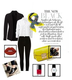 """The New Black"" by nkorenevska on Polyvore featuring New Look, rag & bone, River Island, Furla, Moschino, Lime Crime, Chanel and Christian Dior"