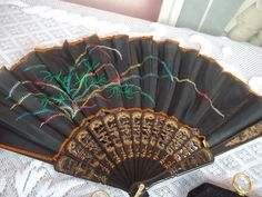 Vintage Hand Held Fan by mariehuddleston on Etsy, $39.00