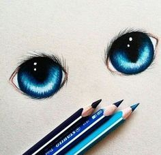 Just Pinned to Blue: blue blueeyes colors cute disney draw. Amazing Drawings, Beautiful Drawings, Cool Drawings, Drawing Sketches, Sketching, Beautiful Eyes, Amazing Art, Awesome, Realistic Eye Drawing