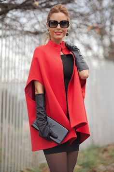 \ This is my Valentine's Day (evening) outfit. Doesn't this outfit scream dirty martini? Winter Wear, Autumn Winter Fashion, Winter Style, Formal Business Attire, Love Fashion, Womens Fashion, City Fashion, Red Gloves, Evening Outfits