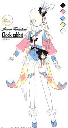 "MOONSO on Twitter: ""핑크색 시계토끼도 있었지🤔 빨강이 더 어울리는거같아서 바꿧지만+.+… "" Manga Clothes, Drawing Anime Clothes, Clothes Design Drawing, Hero Costumes, Anime Costumes, Kawaii Drawings, Cute Drawings, Outfit Drawings, Fantasy Character Design"