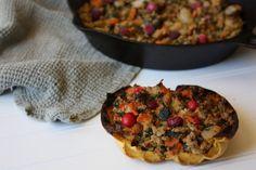Harvest Ground Turkey Stuffed Acorn Squash (AIP, Paleo, Whole 30) | Don't Eat the Spatula