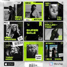 Instagram Grid, Instagram Design, Instagram Posts, Typography Poster Design, Graphic Design Posters, App Design Inspiration, Mode Inspiration, Social Media Template, Social Media Design