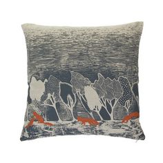 Orwell and Goode - Night Woods: Rust Fox Cushion - 18inch
