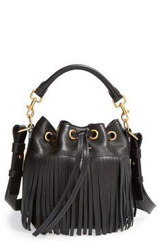 Saint Laurent Fringe Calfskin Bucket Bag available at #Nordstrom