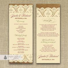 wedding programs etiquette