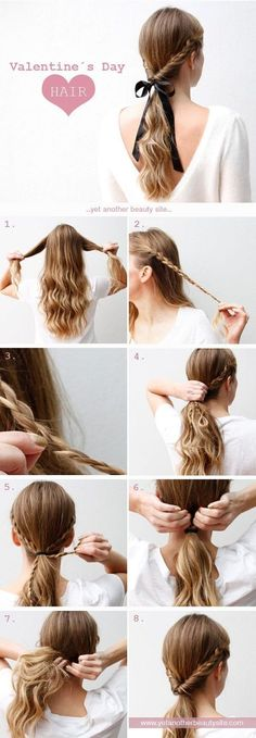 12 super einfache Frisuren für die faulen Tage 12 super easy hairstyles for the lazy days – 12 Super Easy Hairdos for Those Lazy Days These 12 hairstyles are super easy and especially when I'm lazy. No Heat Hairstyles, Step By Step Hairstyles, Pretty Hairstyles, Braided Hairstyles, Simple Hairstyles, Wedding Hairstyles, Country Girl Hairstyles, Simple Hairdos, Perfect Hairstyle