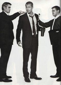 Clooney & Pitt & Damon