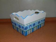 Decoupage, Decorative Boxes, Baby Shower, Home Decor, Shelves For Plants, Pointillism, Free Market, Baby Things, Decorated Boxes