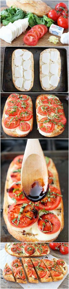 How To Make Caprese Garlic Bread | Food is my friend