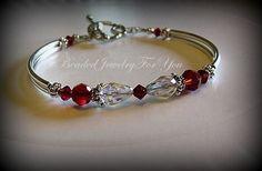Wedding Bracelet  Ruby Red Swarovski by beadedjewelryforyou, $28.99