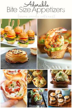 Guests love perfect bite size appetizers at parties! No fork needed, just use your fingers. Great bite size appetizer recipes for birthdays parties, holidays, and baby showers.