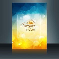 brochura horário de verão Vetor grátis