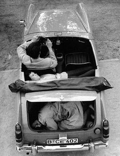 Heinz Meixner, with his fiancee and her mother Frau Thurau, show how they arranged themselves in his Austin-Healey Sprite to drive through the Berlin Wall in (Photo by Express Newspapers/Getty Images) East Germany, Berlin Germany, Berlin Wall Fall, History Of Germany, Checkpoint Charlie, Austin Healey Sprite, Rare Historical Photos, Into The West, West Berlin