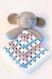 Virkattu vauvalle, ohje - Elephant-snuggle- free pattern