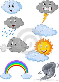 Find Weather Symbol Cartoon stock images in HD and millions of other royalty-free stock photos, illustrations and vectors in the Shutterstock collection. Thousands of new, high-quality pictures added every day. Weather Symbols For Kids, School Behavior Chart, Activities For 6 Year Olds, Weather Crafts, Weather Icons, Preschool Crafts, Clipart, Teaching Kids, Doodles