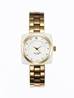 Women's Parsons White & Gold Watch by kate spade new york on Gilt.com