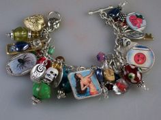 Etsy :: Mexican Loteria Altered Art Charm Bracelet - Mermaid