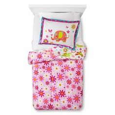 Elephant Floral Comforter Set - Multi-Colored (Twin) : Target