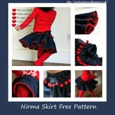 Nirma twirly skirt epattern with calculator and step by step instructions FREE Sewing Patterns Free, Clothing Patterns, Free Pattern, Knitting Patterns, Pom Pom Skirts, Diy Bebe, Sewing Blogs, Baby Kind, Sewing For Kids