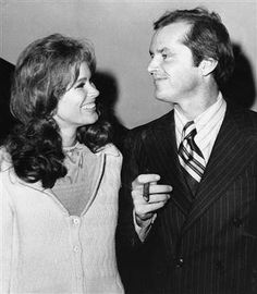 "Jack Nicholson, right, and co-star Karen Black appear together at New York's Philharmonic Hall to attend the premiere of their new film ""Five Easy Pie..."