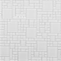 Found it at Wayfair - Random Sized Glass Peel & Stick Mosaic Tile in Pure White