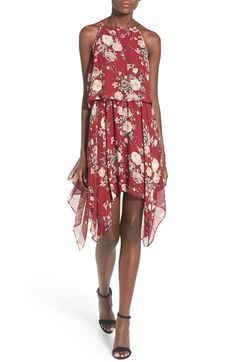 Love Nickie Lew Floral Popover Shark Bite Hem Dress