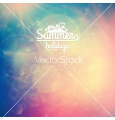 Summer holidays sunset with defocused lights vector by Glush2502 on VectorStock®