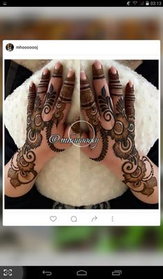 This is ossam Floral Henna Designs, Finger Henna Designs, Arabic Henna Designs, Mehndi Designs For Fingers, Stylish Mehndi Designs, Wedding Mehndi Designs, Latest Mehndi Designs, Bridal Mehndi, Henna Mehndi