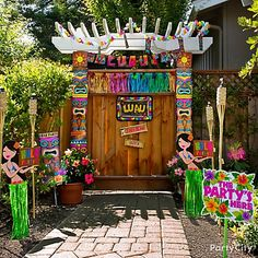 Say Aloha with a grand entrance to your luau party!
