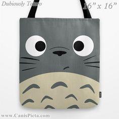 Totoro Kawaii My Neighbor 13x13 Graphic Pop Art by CanisPicta, $25.00