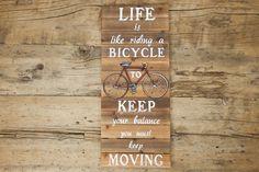 Painel Life Is Like Riding | A Loja do Gato Preto | #alojadogatopreto | #shoponline | referência 74067009