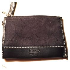 Black Coach Wallet Used. Price is firm. No trades. Gold has worn off around zipper and key holder. Coach Bags Wallets